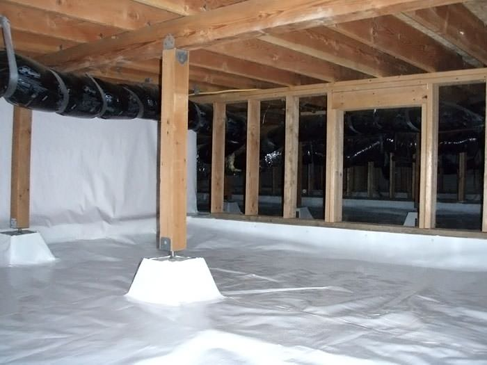 A Large, Encapsulated Crawl Space With Our Vapor Barrier System Installed  In Lake Stevens.