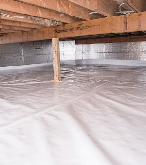 Installed crawl space insulation in Mill Creek