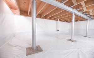 Crawl space structural support jacks installed in Sedro Woolley