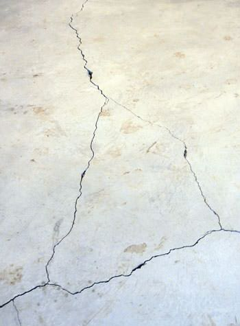 severely cracked, heaving slab floors in a home in Friday Harbor