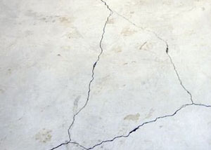 cracks in a slab floor consistent with slab heave in Burlington.