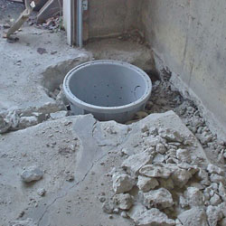 Placing a sump pit in a Snohomish home