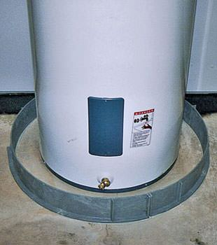 An old water heater in Sultan, WA with flood protection installed