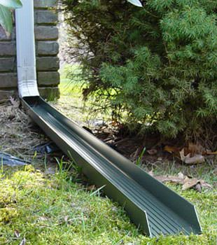 Gutter downspout extension installed in Darrington