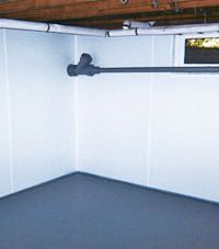 Plastic basement wall panels installed in a Snohomish, Washington home